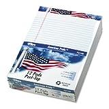 TOPS® American Pride™ Writing Pad PAD,AMRCN PRD RECY 12,WE (Pack of3)
