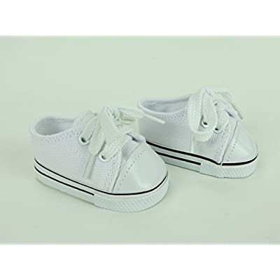 "American Fashion World White Sneakers -18"" Dolls: Toys & Games"