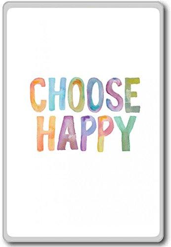 Choose Happy – motivational inspirational quotes fridge magnet