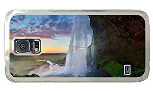 Hipster Samsung Galaxy S5 Case design cases waterfall seljalandsfoss island PC Transparent for Samsung S5 by runtopwell