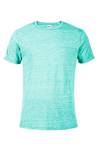 Casual Garb Men's Snow Heather Fitted T Shirt Short Sleeve Crew Neck T-Shirts For Men Celadon (Pullover Men T Shirt)