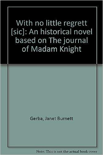 the journal of madam knight