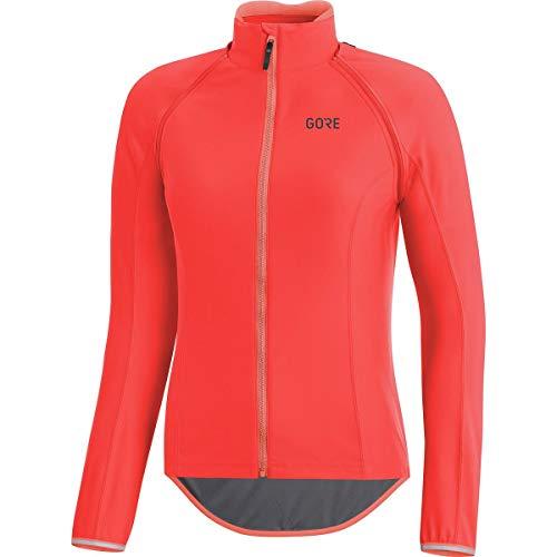 (GORE Wear Women's Windproof Road Bike Long Sleeve Jersey, Detachable Sleeves, GORE Wear C5 Women's GORE Wear WINDSTOPPER Zip-Off Jersey, Size: XL, Color: Lumi Orange, 100204)