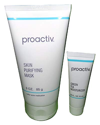 (Proactive Skin Purifying Mask 3 ounces / 85g + Free Bonus Green Tea Moisturizer .33 fl oz 10mL)