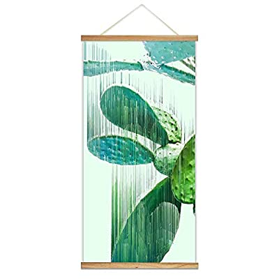 Hanging Poster Wooden Framed Fashion Beautiful Cactus Theme Home Wall 18