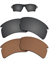 8a4961aba0 Replacement Lenses Different Colors for Oakley Flak 2.0 XL Sunglass  Polarized Pack of 2