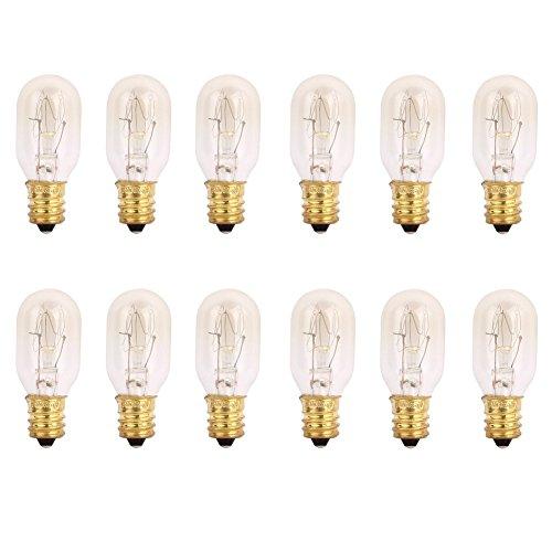 TGS Gems 25 Watt Himalayan Salt Lamp Light Bulbs Incandescent Bulbs E12 Socket-12Pack by 1st Choice