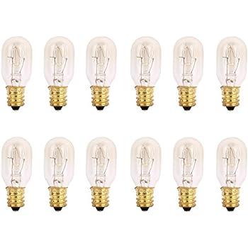 TGS Gems 25 Watt Himalayan Salt Lamp Light Bulbs Incandescent Bulbs E12 Socket-12Pack