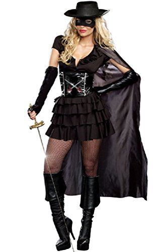 [8eighteen Masked Bandit Double-Edged Diva Adult Costume] (Masked Bandit Costume)