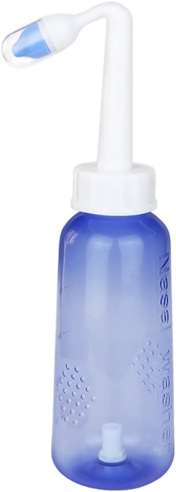Sinus Sp/ülung Irrigator 300ml Nasendusche f/ür Kinder Nasenwaschflasche Nasenpflege Tool Calayu Nasenreizung Set