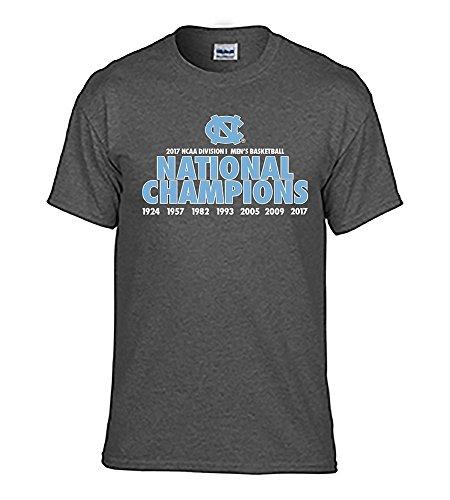 North Carolina Tar Heels 2017 National Basketball Champs Tshirt Charcoal - XL