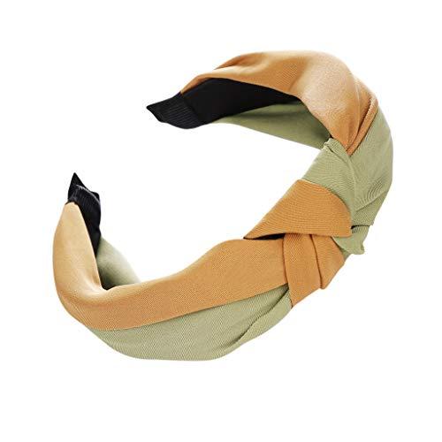 VOWUA Women's Hairband Charming Bow Knot Print Hairband Women Hair Head Hoop Simple Sweet Girls Headband 1PC