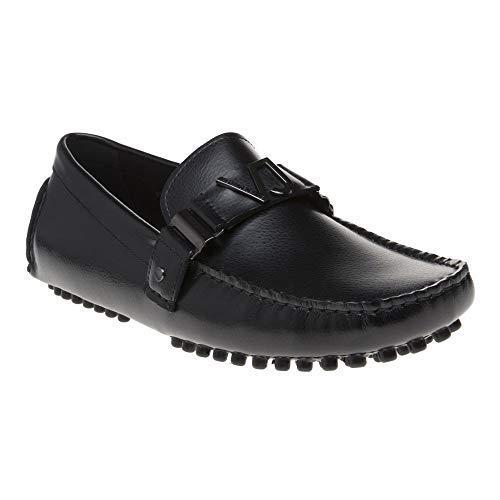 (Versace Jeans Trim Driver Mens Shoes Black)