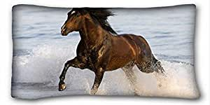 """Custom Cotton & Polyester Soft Animal DIY Pillow Cover Size 20""""X36"""" suitable for Twin-bed"""