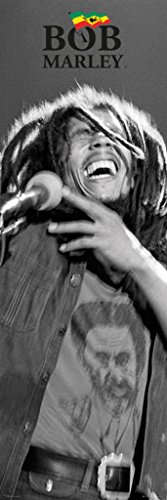Bob Marley Poster Flag (Bob Marley - Black and White - Official Door Poster)