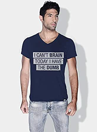 Creo I Cant Brain Today Funny T-Shirts For Men - S, Blue
