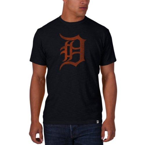 MLB Detroit Tigers Men's '47 Basic Scrum Tee, Fall Navy, Small