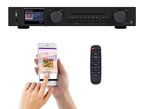 VR-Radio Internet Tuner: WLAN HiFi-tuner met internetradio, CD, DAB+, FM en Bluetooth, MP3/WMA (tuner radio CD)