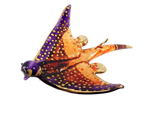 Miniature Dollhouse Animals Stingray Ray figurines Glass Blown Toy Zoo - Stingray Glass