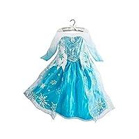 DaHeng Girls Princess Elsa Fancy Dress Costume (3-4years) Blue