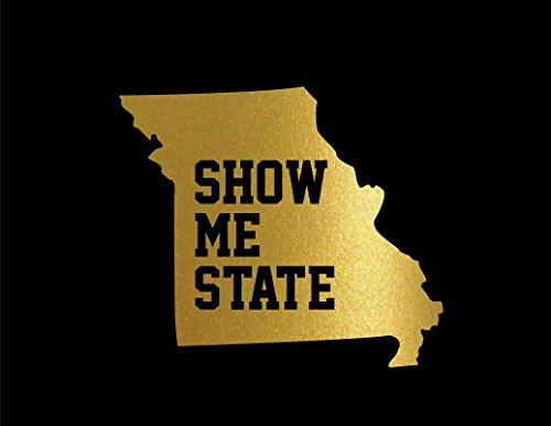 (ND339G Missouri Show Me State Decal Sticker | 5.5-Inches By 4.7-Inches | Premium Quality Gold)