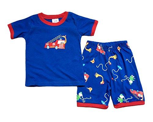 "UPC 799443392949, [Baby House] ""Fire truck "" Boys Short 2 Piece Pajama 100% Cotton G6146 T4"