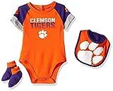 Gen 2 NCAA Clemson Tigers Newborn & Infant 50 Yard Dash Bib & Bootie Set, 18 Months, Orange