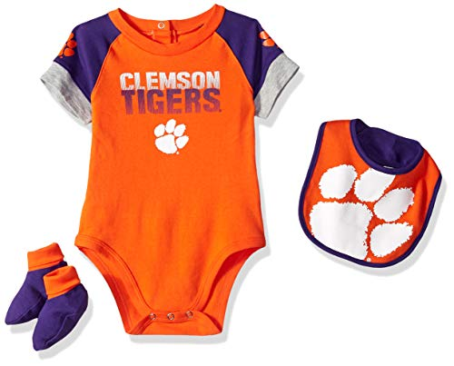 Gen 2 NCAA Unisex-Child NCAA Newborn & Infant 50 Yard Dash Bib & Bootie Set