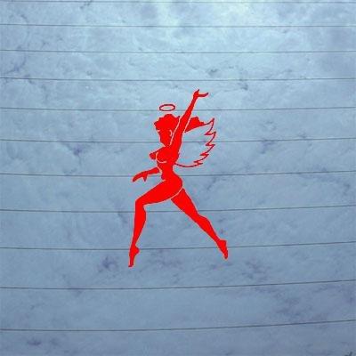ADHESIVE VINYL AUTO DECAL STICKER DECOR RED CAR HELMET ART DECORATION MACBOOK WINDOW LAPTOP FLYING TIGERS HELL ANGELS ()