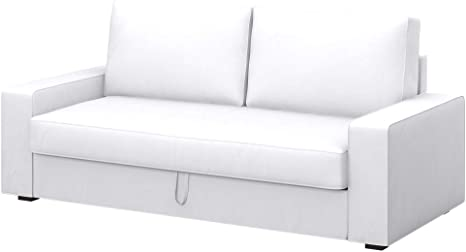 Amazon.com: Soferia Replacement Cover For IKEA VILASUND 3-seat Sofa-Bed Cover, Fabric Eco Leather White: Home & Kitchen