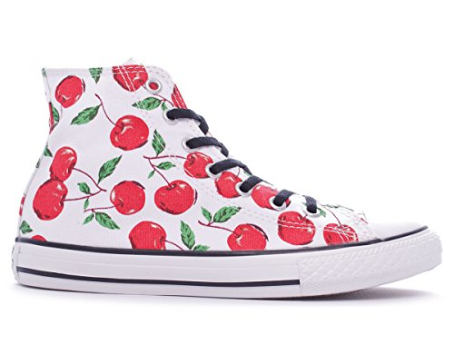 Adulte Mixte Graphic Chuck Hi Sneaker Toile Bianco Converse Taylor Blanc Canvas High qwY7TwUF