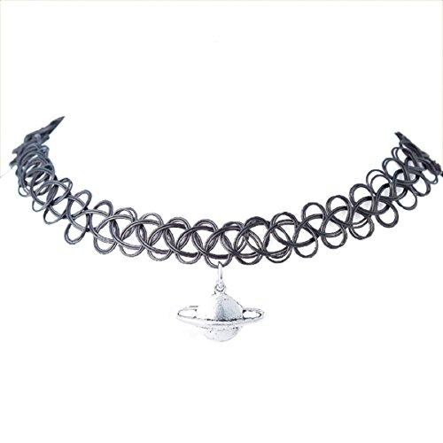 doinshop-unisex-tattoo-choker-stretch-necklace-henna-vintage-elastic-boho-90s-gothic-hot-saturn