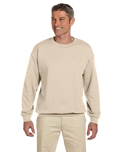 - Jerzees Super Sweats NuBlend Fleece Crewneck Sweatshirt-L (Sandstone)