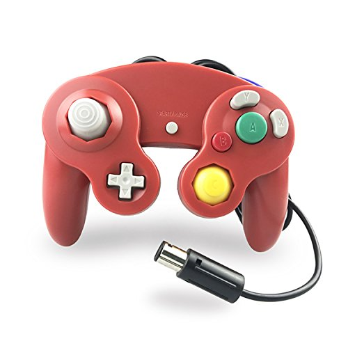 Crifeir The Wired Controller for Gamecube NGC Wii Video Game (Red)