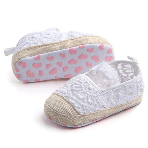 BZLine® Baby Neugeborene Baby-Spitze-hohle Jungen-Mädchen-Kind Schuhe Weiß