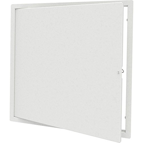 "Babcock-Davis 24"" x 24"" Architectural Access Door, White, Flush Mount, Cam Latch"