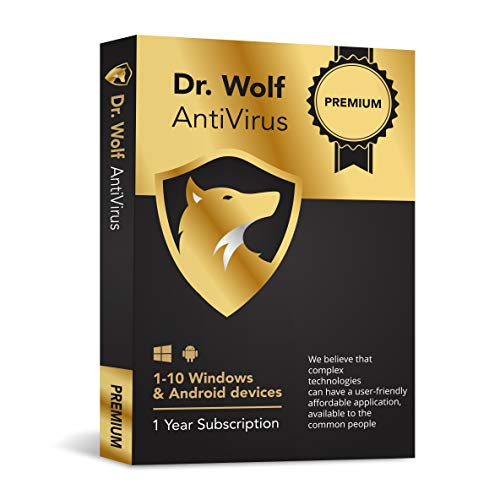 Dr. Wolf - Internet Security - Anti Virus Premium (3PC + 3 Android) (Best Lightweight Antivirus Android)