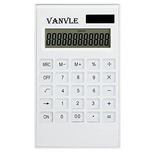 Vanvle Calculator Standard Function Desktop Business Handheld Battery Solar Dual Powered Calculators for Office student with 12-Digit Large LCD Display