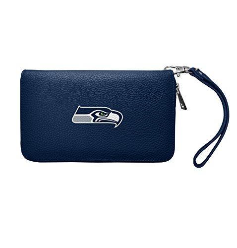 NFL Seattle Seahawks Zip Organizer Pebble Wallet
