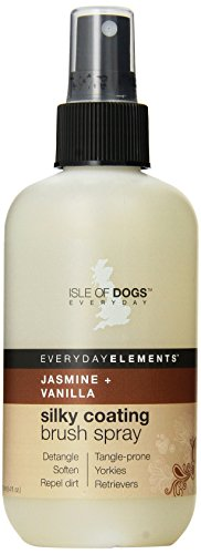 Everyday Isle of Dogs Silky Coating Dog Brush Spray, Jasmine Vanilla for Yorkies, Poodles and Tangle-Prone Hair, 8.4oz (Yorkie Brush compare prices)