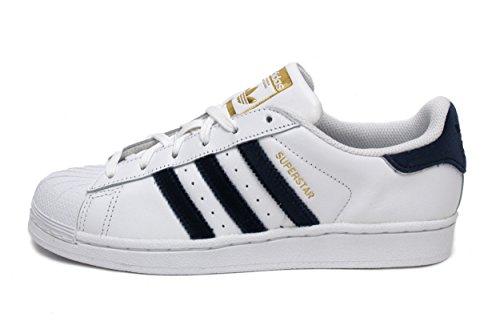 adidas Originals Women's Superstar White/Navy/Black 9 B US by adidas Originals