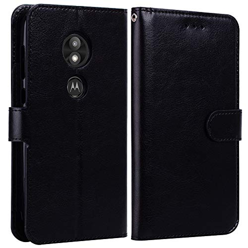 Moto E5 Play Case,Moto E5 Play Wallet Case,Moto E5 Cruise Case,Alkax Luxury PU Leather Credit Card Slots Holder Carrying Folio Flip Cover Magnetic Case Kickstand for Motorola Moto E5 Play&Stylus-Black