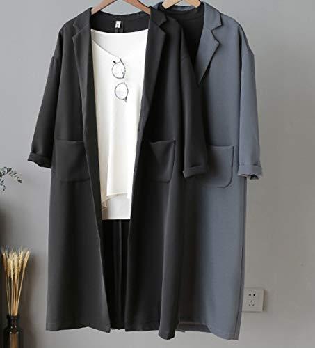 Unita Autunno Moda Lungo Nero Temperamento Caldo Cappotto Inverno E Medio Tasca Trench Sezione Donna Con Giacca Transizione Risvolto Snone Tinta Semplice 1Yqwz5Zx