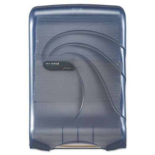 San Jamar T1790TBL Artic Blue Large Capacity Ultrafold Multifold/C-Fold Towel Dispenser
