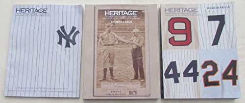 SPORTS COLLECTIBLES MEMORABILIA HERITAGE 2017 LOT OF 3 AUCTION CATALOGS