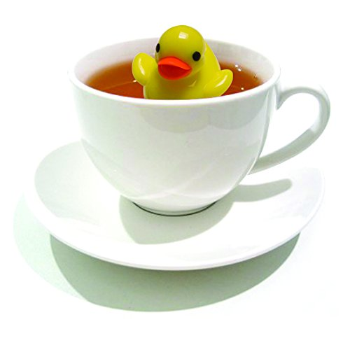 DCI Floating Duckie Tea Infuser, Yellow and Blue