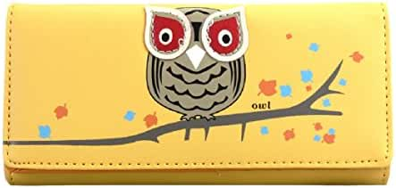 Tonsee Women Owl Pattern Long Wallet