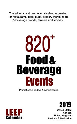 820 food beverage events promotions holidays anniversaries for 2019 united states