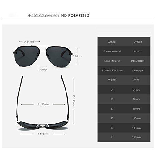 ea2b5bd3c Outlet JULI Hombre gafas de sol Aviador polarizado de conducción - UV 400  Protección