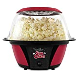 West Bend 82707QVCR Stir Crazy Electric Hot Oil Popcorn Popper Machine, 6-Quart, Red